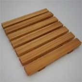Square Slatted Wooden Amenity Tray