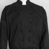Chefs Double Breasted Black Jacket