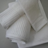 Classic Ribbed White Hand Towel 40 x 60cm (144 gm)