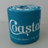 Coastal 400 Sheets Virgin 2 Ply Wrapped Toilet Paper - 48/Ctn
