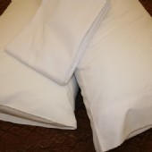 Commercial 250TC Flat White Sheets