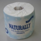 Naturally Soft Wrapped Toilet Paper 400 Sheets Virgin 2 Ply - 96/Ctn