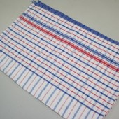 Diamonds #10 Red/Blue Stripe Heavy Duty Diamonds Tea Towel