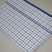 Diamonds #4 Blue Stripe Light Weight Tea Towel