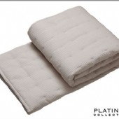 Platinum Ascot Linen Quilted Coverlet