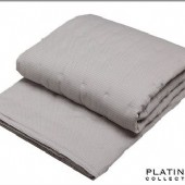 Platinum Ascot Pewter Quilted Coverlet