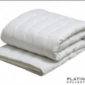 Platinum Ascot White Quilted Coverlet