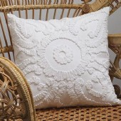 Private Collection Solaris White Square Cushion