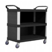 3 Tier 895×505 Service Trolley with Cabinet