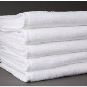 Shuttleless White Commercial Face Cloth 33cm x 33cm
