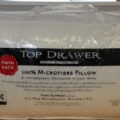 Top Drawer 1000gm Microfibre fill Pillows