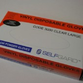 Selfgard Vinyl Disposable Gloves 3000 Clear Large 100